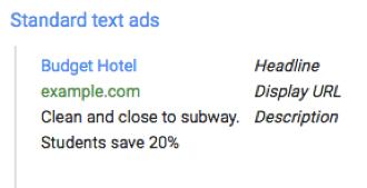 Google Standard Text Ad