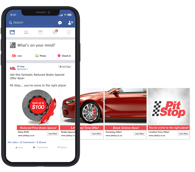 Facebook Ad - Pit Stop